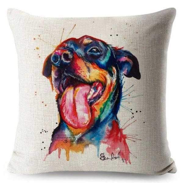 Cattle Dog Water Colour Throw Cushion-DoggyTopia
