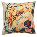 Cavoodle Water Colour Throw Cushion-DoggyTopia