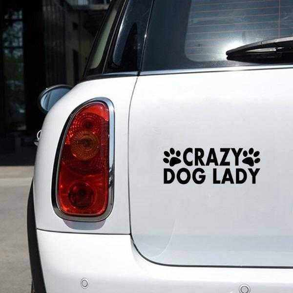 Crazy Dog Lady Car Decal-DoggyTopia
