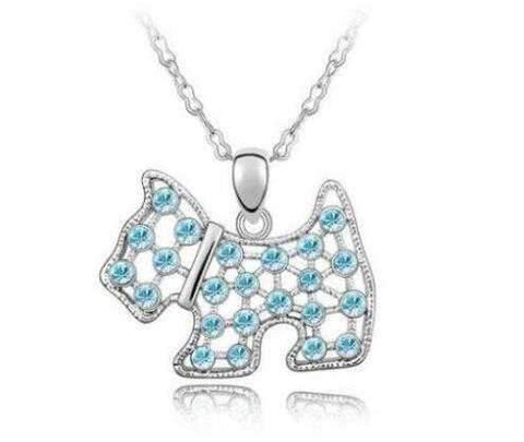 Crystal Dog Necklace-DoggyTopia