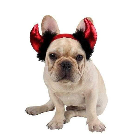 Image of Devil Horns Dog Headpiece-DoggyTopia