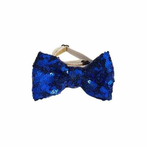 Image of Dog Birthday Crown & Bow Tie Collar - Blue, Custom Age-DoggyTopia