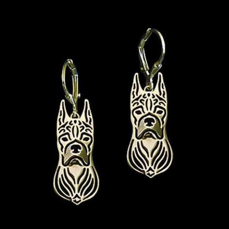 Dog Earrings - Boxer Ears Up-DoggyTopia