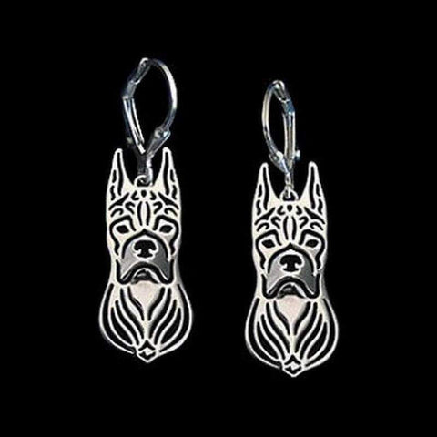 Image of Dog Earrings - Boxer Ears Up-DoggyTopia