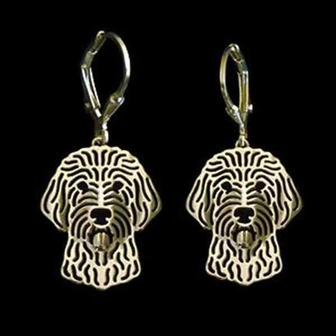 Image of Dog Earrings - Golden Doodle-DoggyTopia