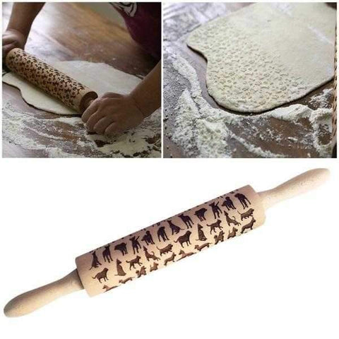*** Dog Embossed Rolling Pin-DoggyTopia