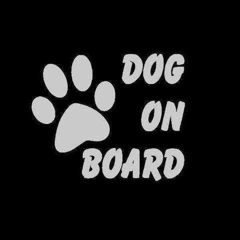 Image of Dog On Board Car Decal-DoggyTopia