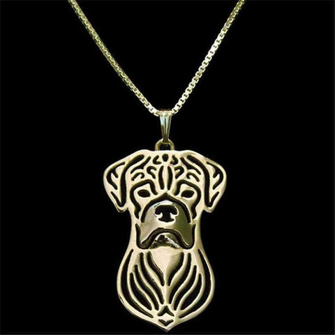 Dog Pendant Necklace - Boxer-DoggyTopia