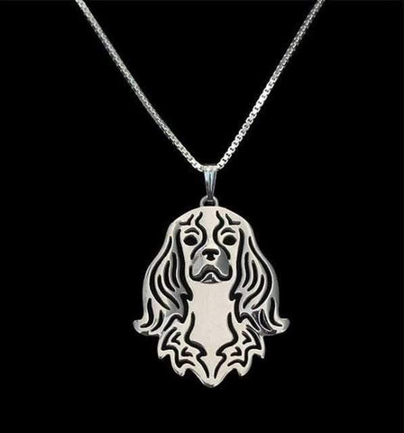 Dog Pendant Necklace - Cavalier-DoggyTopia