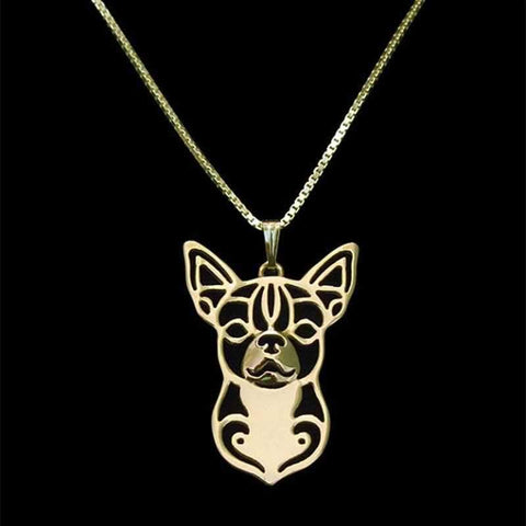 Dog Pendant Necklace - Chihuahua-DoggyTopia
