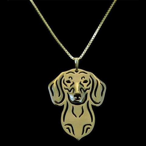 Dog Pendant Necklace - Dachshund-DoggyTopia