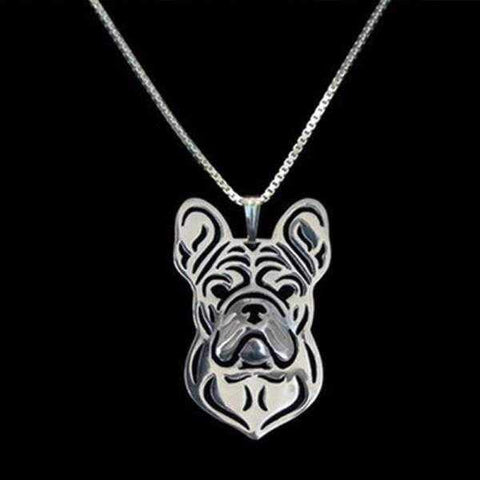 Dog Pendant Necklace - French Bulldog-DoggyTopia