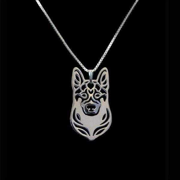 Dog Pendant Necklace - German Shepherd-DoggyTopia