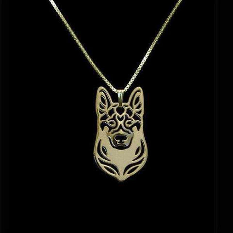 Image of Dog Pendant Necklace - German Shepherd-DoggyTopia