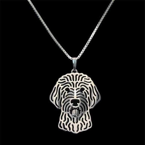 Dog Pendant Necklace - Golden Doodle-DoggyTopia