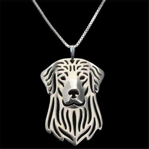 Dog Pendant Necklace - Golden Retriever-DoggyTopia