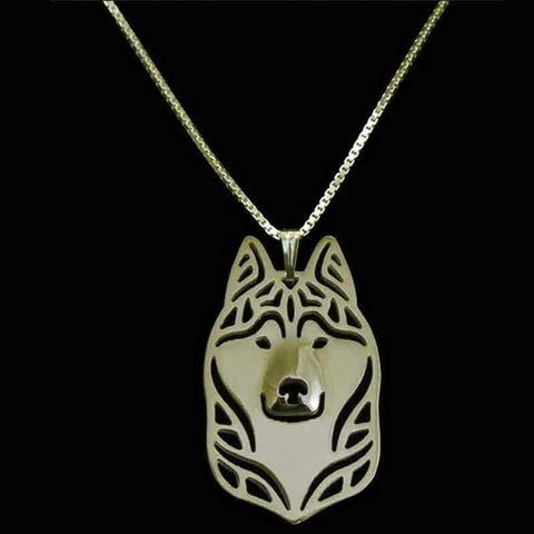 Image of Dog Pendant Necklace - Husky-DoggyTopia