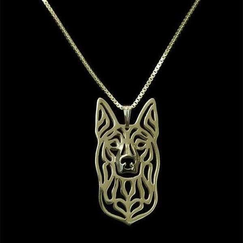 Dog Pendant Necklace - Kelpie-DoggyTopia