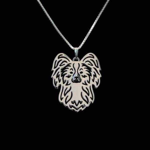 Dog Pendant Necklace - Papillon-DoggyTopia