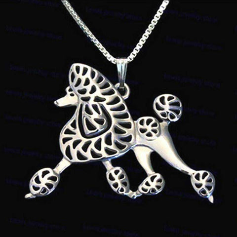 Dog Pendant Necklace - Poodle Walking-DoggyTopia