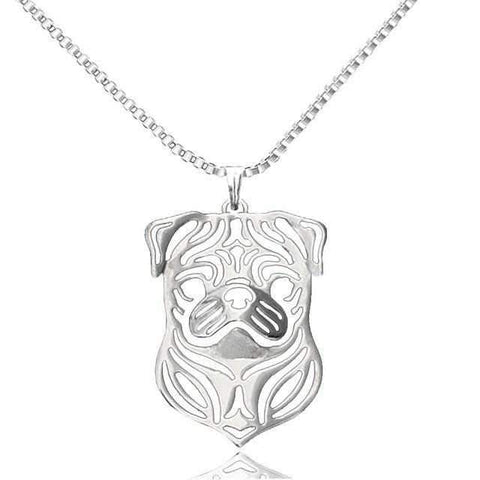Dog Pendant Necklace - Pug-DoggyTopia