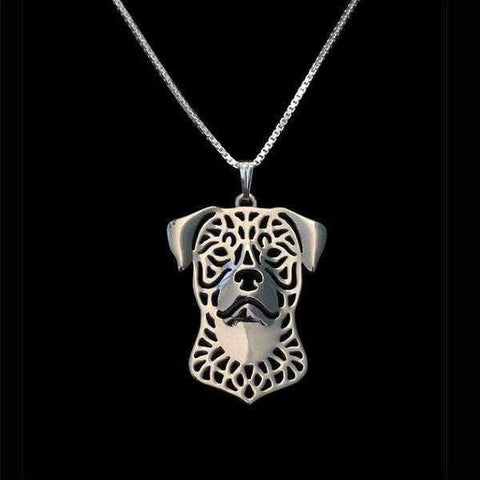 Image of Dog Pendant Necklace - Rottweiler-DoggyTopia
