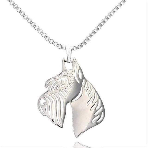 Dog Pendant Necklace - Schnauzer-DoggyTopia