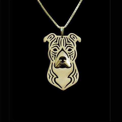 Dog Pendant Necklace - Staffy-DoggyTopia