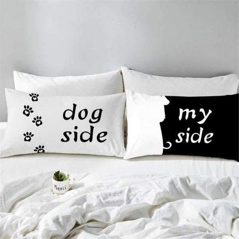 Dog Side, My Side Pillow Cover Set-DoggyTopia