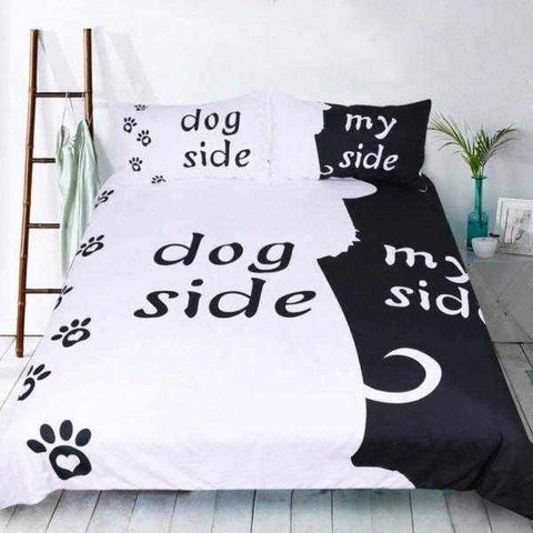 Dog Side, My Side Quilt Cover Set-DoggyTopia