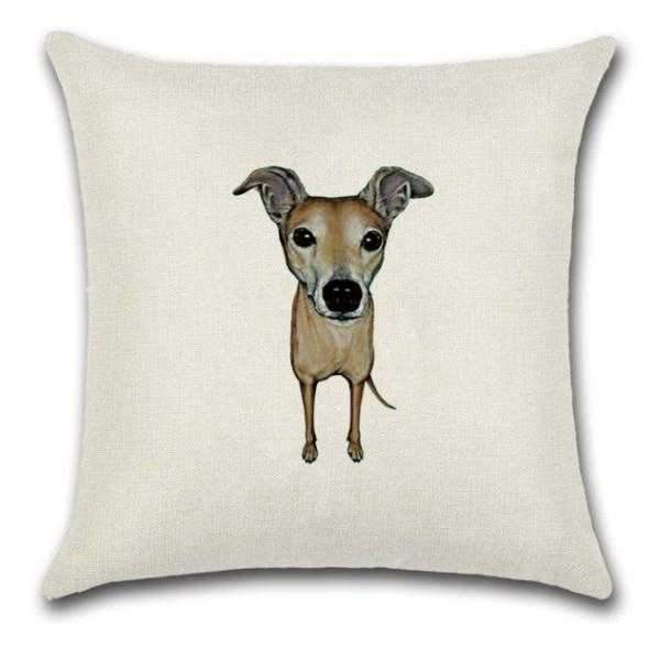 Fawn Greyhound Throw Cushion-DoggyTopia