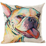 French Bulldog Water Colour Throw Cushion-DoggyTopia