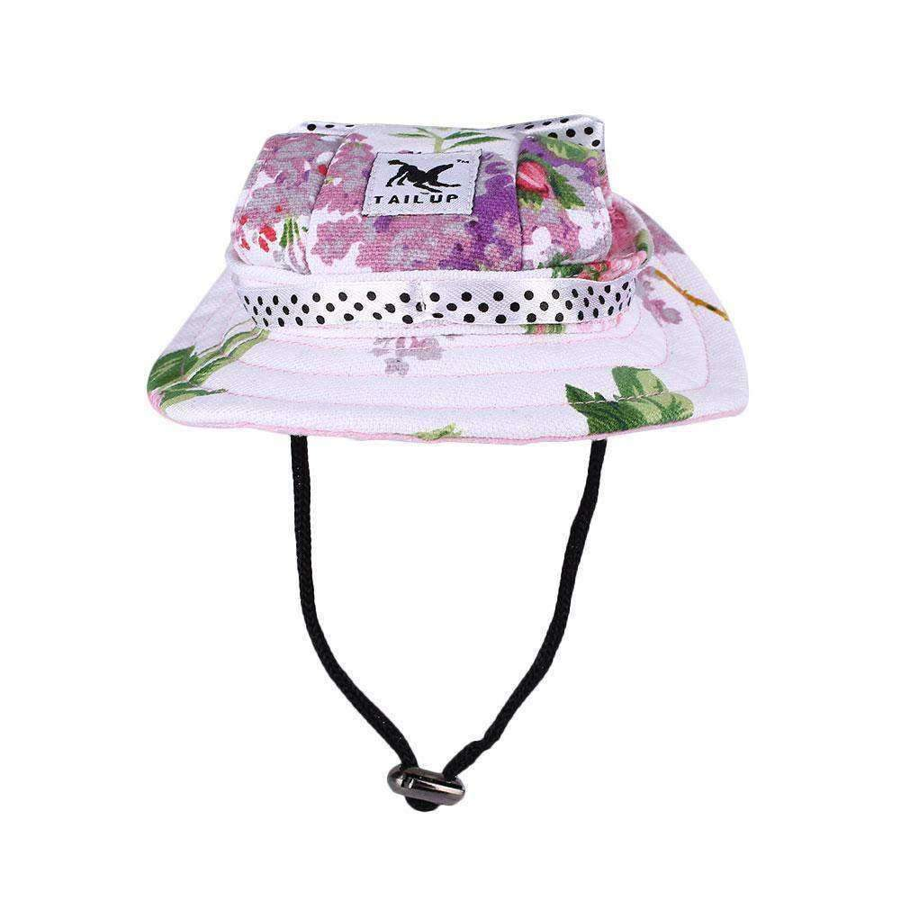 Full Brim Dog Sun Hat Floral-DoggyTopia