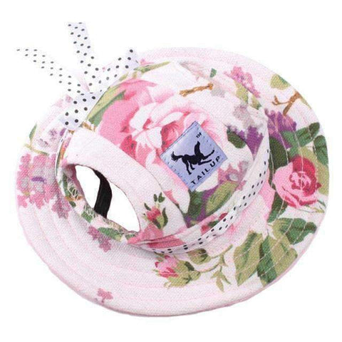 Image of Full Brim Dog Sun Hat Floral-DoggyTopia