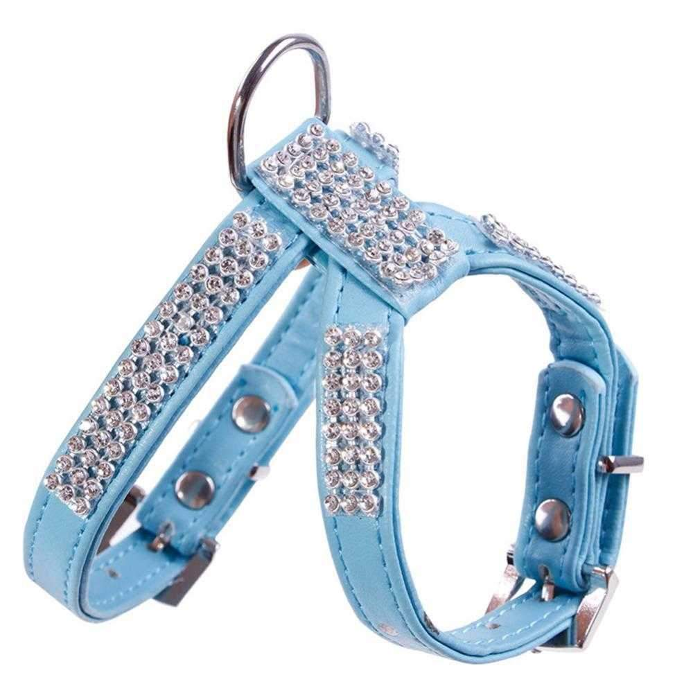 Glamour Rhinestone Dog Harness-DoggyTopia