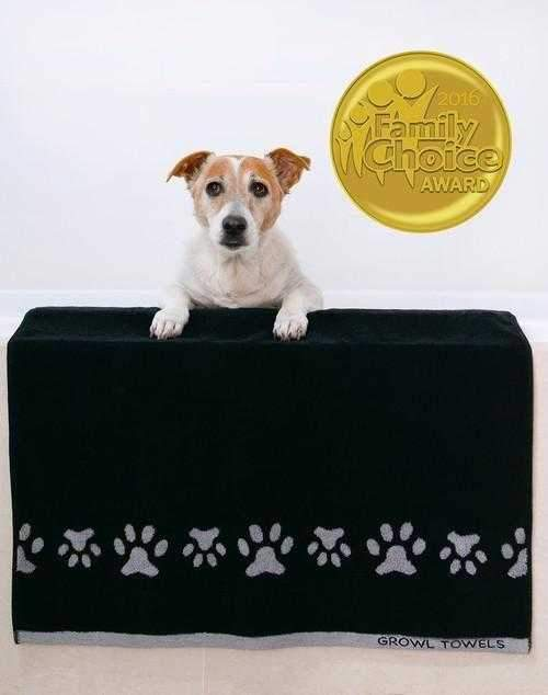 Growl Towels Dog Bath Towel Black-DoggyTopia