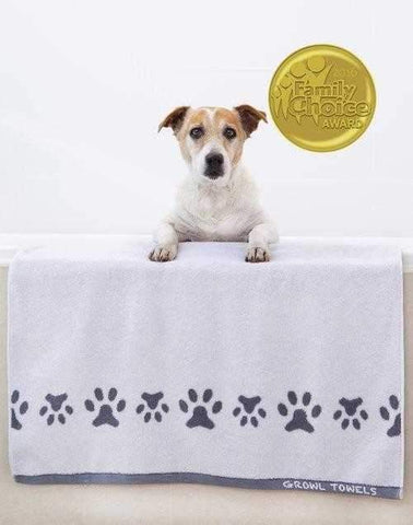 Image of Growl Towels Dog Bath Towel White-DoggyTopia