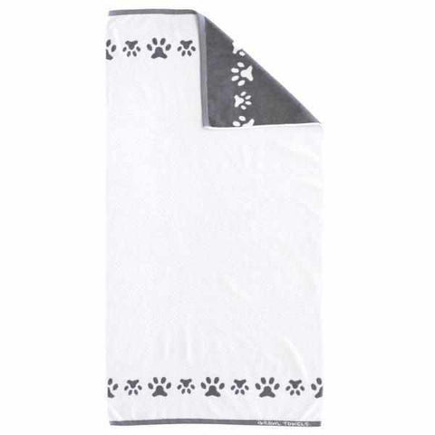 Growl Towels Dog Bath Towel White-DoggyTopia