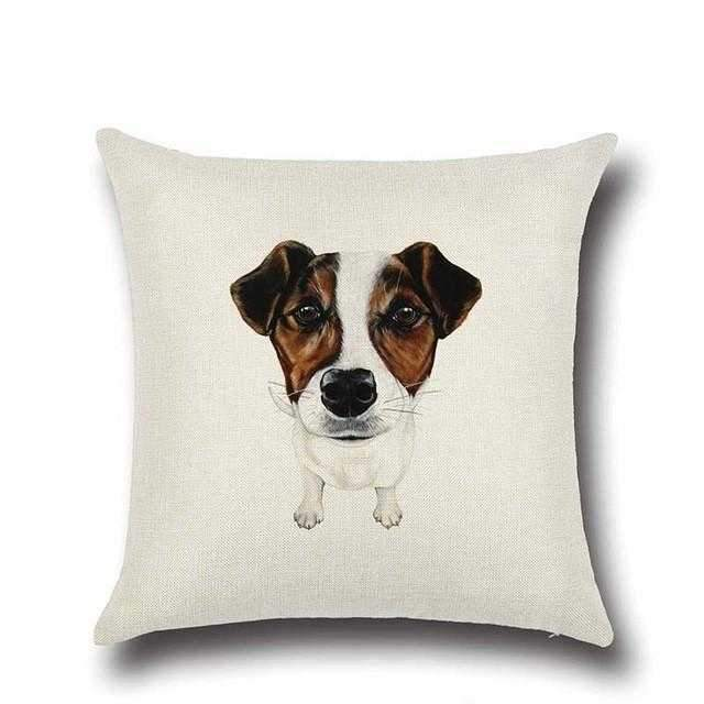 Jack Russell Throw Cushion-DoggyTopia