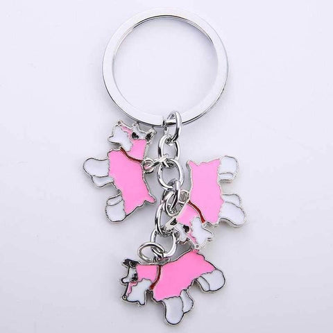 Image of Key Ring 3 Schnauzers-DoggyTopia