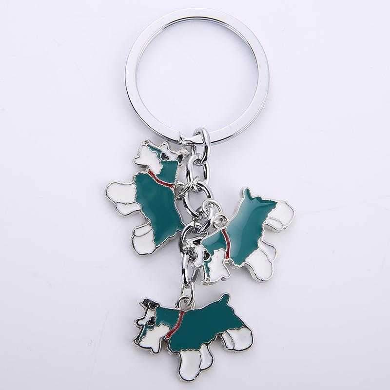 Key Ring 3 Schnauzers-DoggyTopia