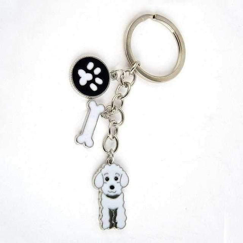 Image of Key Ring Poodle-DoggyTopia