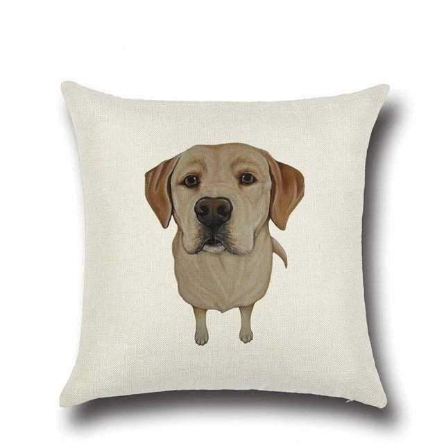 Labrador Throw Cushion Cotton/Linen-DoggyTopia