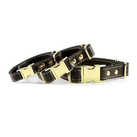Leather Quick Release Dog Collar-DoggyTopia