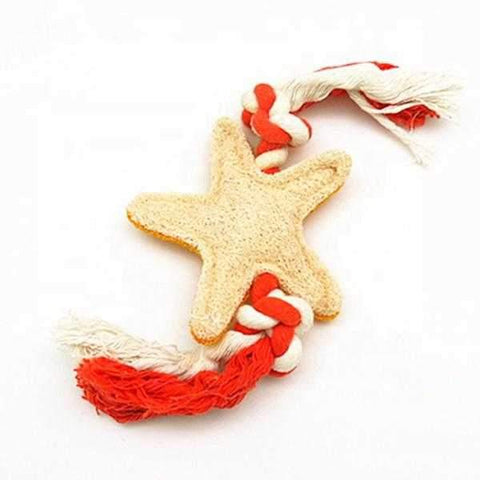 Image of Loofah Starfish & Rope Dental Toy-DoggyTopia