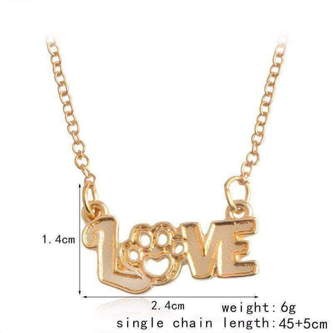 Love Dog Necklace-DoggyTopia