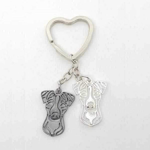 Image of Love Heart Jack Russell Key Ring-DoggyTopia