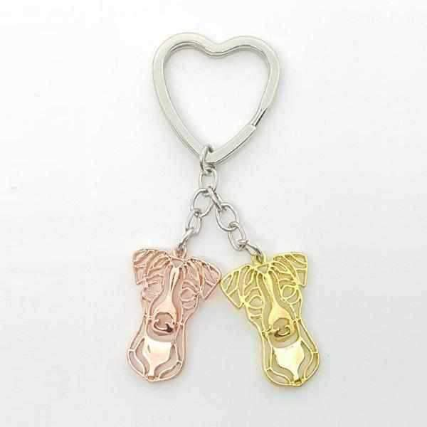Love Heart Jack Russell Key Ring-DoggyTopia