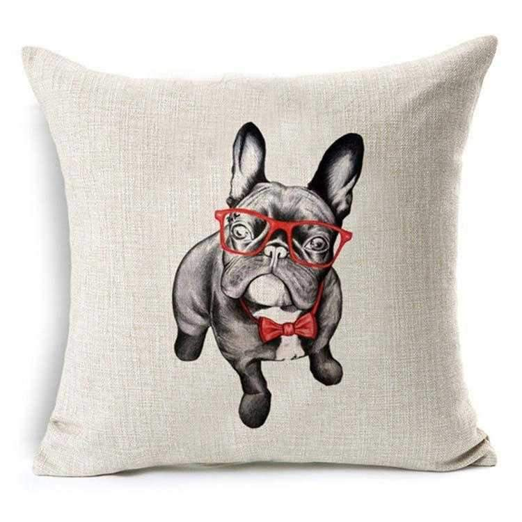 Mr Frenchie Throw Cushion-DoggyTopia