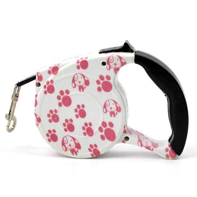 Pink Paws Retractable Dog Lead-DoggyTopia